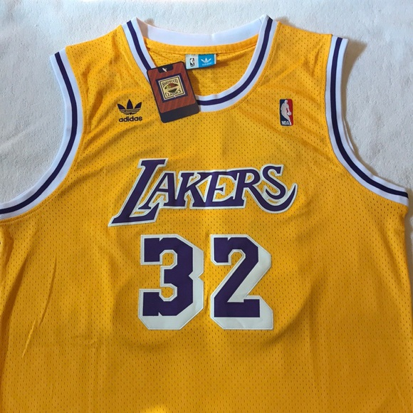 newest 5814f db73d Throwback, Magic Johnson, Lakers Jersey NWT